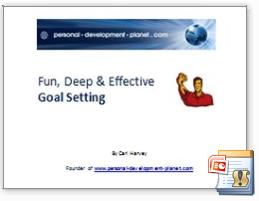 goal setting powerpoint, goal setting workbook